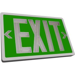 Tritium Exit Sign - Green & White