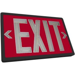 Tritium Exit Sign - Red & Black