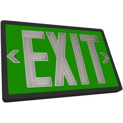 Tritium Exit Sign - Green & Black