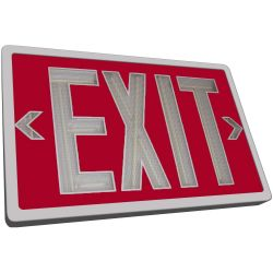 Tritium Exit Sign - Red & White